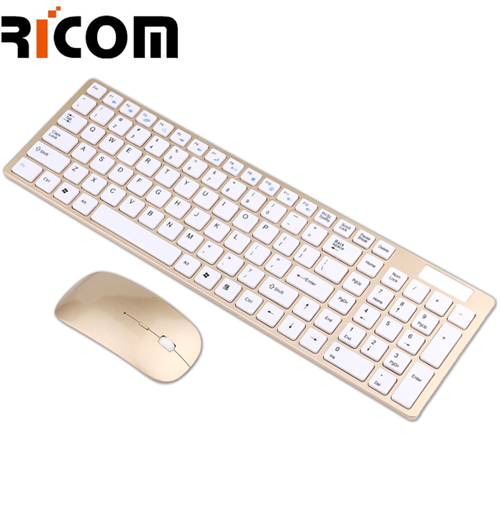 Gold Keyboard Mouse Combo WKM-111