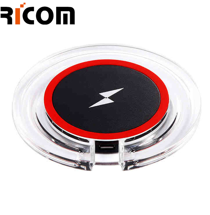 round shape crystal wireless charger WH-608A