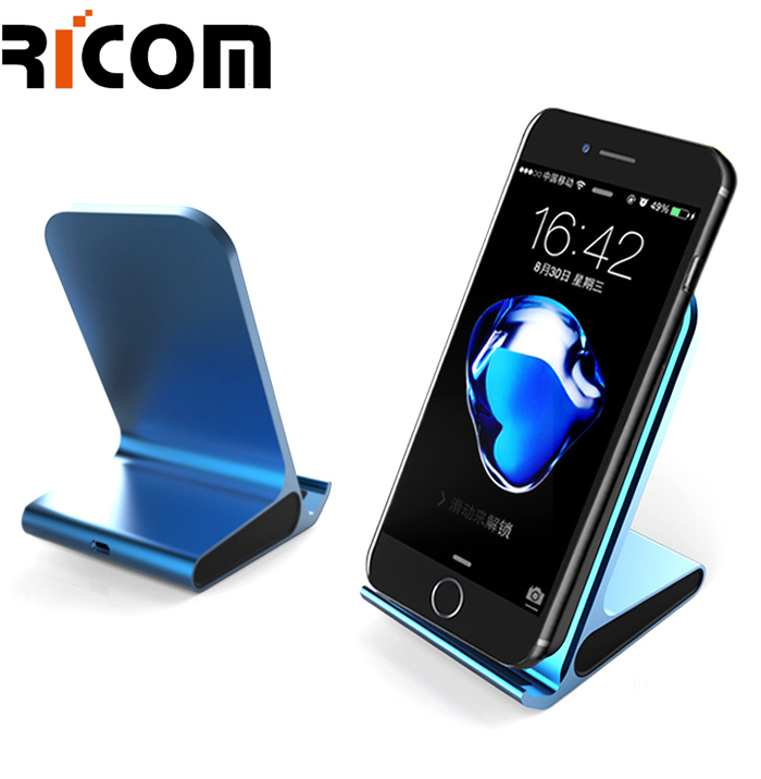 Metal Aluminum Mobile holder fast wireless charger WH-611