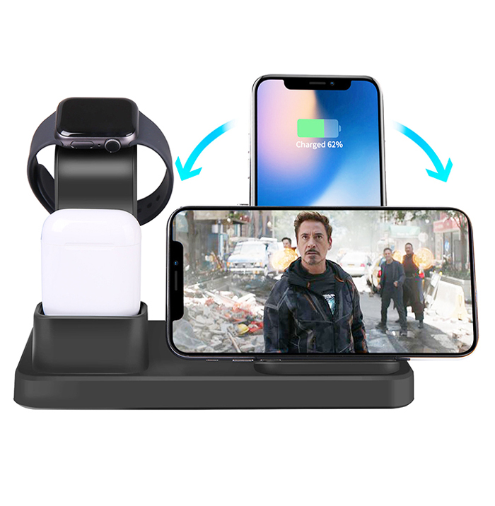 2019 Wireless charger station for iphone 3 in 1 magetic charging dock compatible for apple watch 1,2,3,4 all series