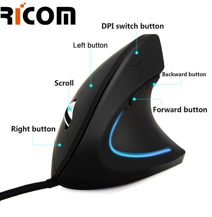 6D USB Ergonomic Mouse GM-6055E-USB