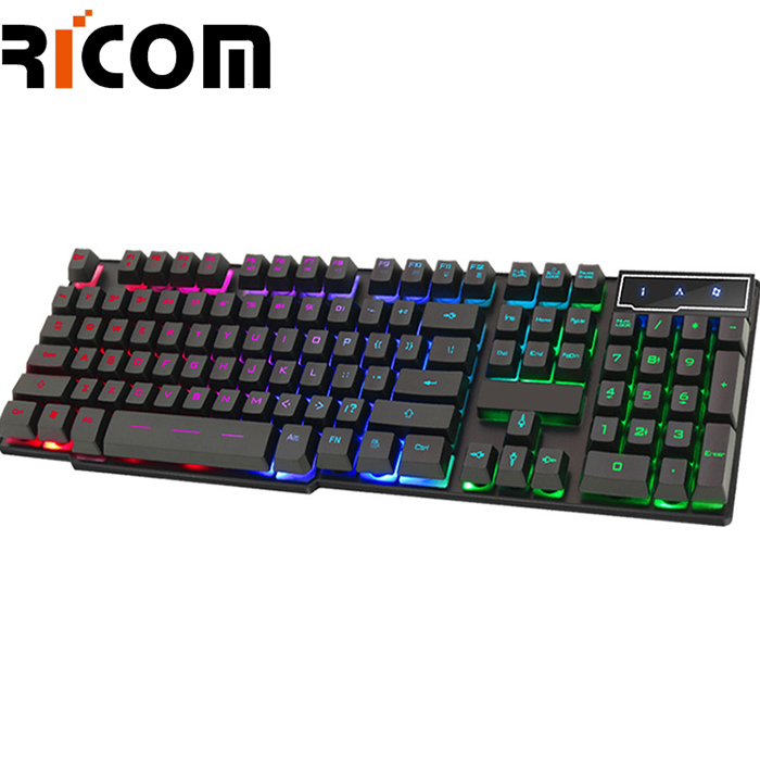 Metal + ABS Material RGB Wired Gaming Keyboard WKM-610