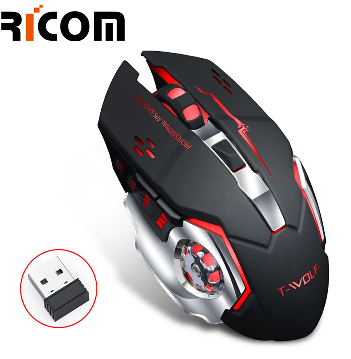 7 Colors LED Breathe Backlit Wireless Gaming Mouse GM8004