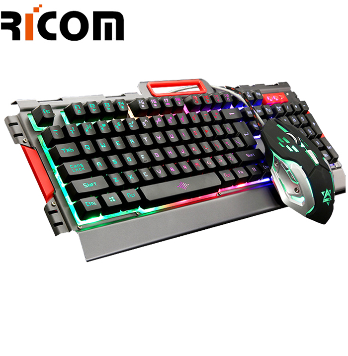 Wired Gaming RGB Keyboard and Mouse Combo WKM-614