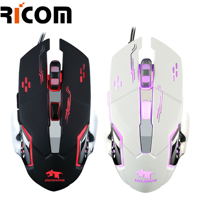 7 Colors LED Breathe Backlit Wired Gaming Mouse GM8004